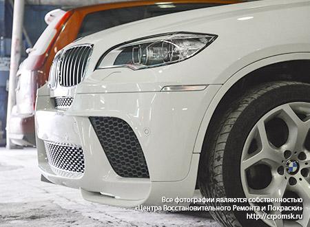 Результат ремонта бампера BMW