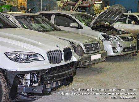 Пример кузовного ремонта в Омске